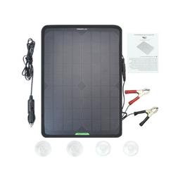 10W Portable Solar Power Panel 12V Mono Battery Charger for
