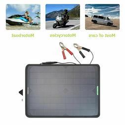 10W Solar Panel Battery Charger 12V For Car Motorcycle Boat