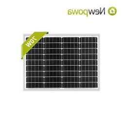 Newpowa 70 Watt Mono Solar Panel 12v Solar Battery Charging
