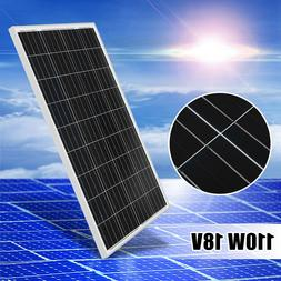 110W 18V Poly Solar Panel Module Off Grid Battery Charger Fo