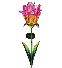 Regal Art & Gift 11619 Ruffled Tulip Stake Solar Light Garde