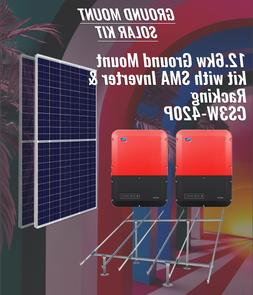 12.2 KW Ground Mount 39 x 315 Watt Solar Panels 2 Inverters