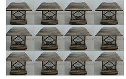 12 Kits New Bronze Outdoor Garden Solar Panel Post Deck Cap