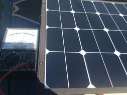 Suaoki 12 or 18  volt dc 100 watt 5 amp solar panel charger