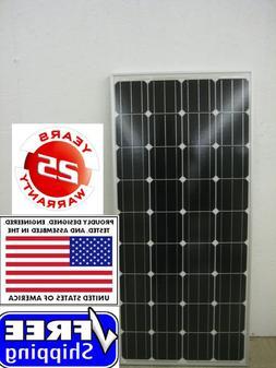 1- 180  Watt 12 Volt Battery Charger Solar Panel Off Grid RV