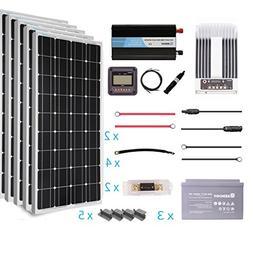 Renogy 500 Watt 12 VoltSolar Complete Kit Monocrystalline wi
