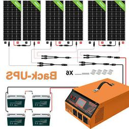 1200W Watt Solar Panle Kit :3KW 24V All-In-One Solar Inver