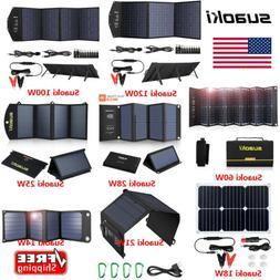 SUAOKI 120W/100W/25W/21W/14W Portable Solar Panel Foldable S