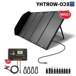 120W 12V Foldable Solar Panel For Portable Solar Generator P