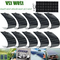 120W 12V Monocrystalline Solar Panel Off Grid for RV Boat mo