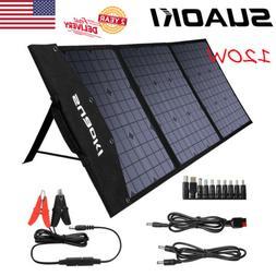 SUAOKI 120W 18V Foldable Monocrystalline Solar Panel Kit Car