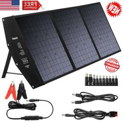 SUAOKI 120W Foldable Solar Panel Charger 2-USB Hiking Campin