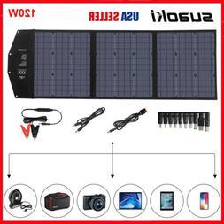 SUAOKI 120W Foldable Solar Panel Kit DC 12-18V Car Solar Pan