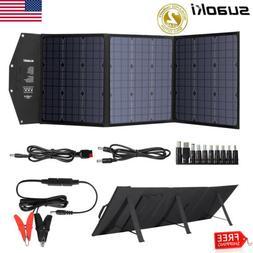 120W Foldable Solar Panel Type-C USB Kit 12V Off Grid Batter