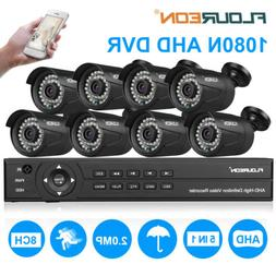 HD 8CH 1080P DVR 3000TVL Outdoor Home Surveillance Security
