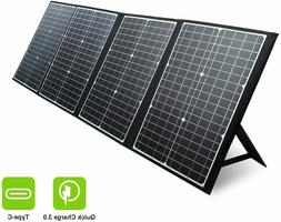 Foldable 120W Solar Panel Charger For Solar Generator Power