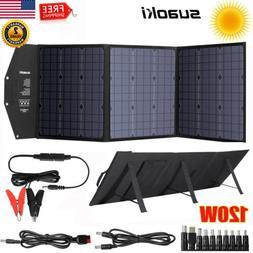 120W Portable Solar Panel System Kit USB DC Laptop Battery P
