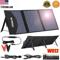 120W Solar Panel System Kit for USB DC Battery Power Charge
