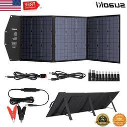 120Watt Foldable Solar Panel USB Kit DC 12V Off Grid Battery