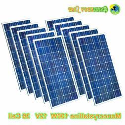 12V 1.5W 95 Watt 100W 400W Mono 21V Solar Panel For 12V Car