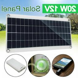 12V 20W Solar Panel for Car Boat Yacht Trickle Battery Charg
