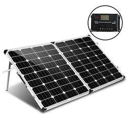 KOMAES 160 Watt 12V/24V Monocrystalline Portable Folding Sol