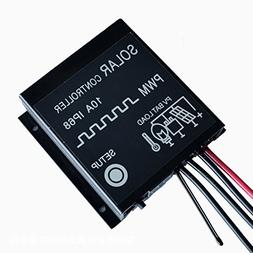 NUZAMAS 12V/24V Solar Panel Regulator Charge Controller 10A