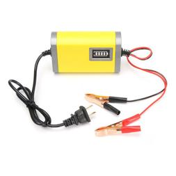 12V 2A Car Motorcycle Smart Automatic Battery Charger Yellow