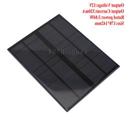 12V 320mA Solar Panels Photovoltaic Power DIY  Battery Board