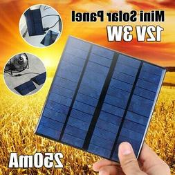 12V 3W Mini Power Solar Panel Module Systerm For Battery Cel