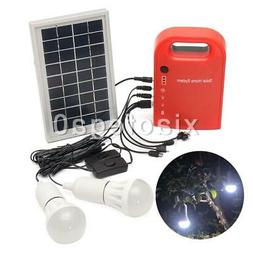 Portable Home Outdoor Lighting DC Solar Panels Charging Gene
