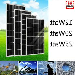 12W 20W 25W Watts Solar Panel 12V Poly Off Grid Battery Char
