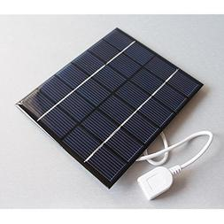 6V 2W 0-330mAh 136x110x3mm DLY Mini Power Solar Panel USB Tr