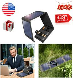 Suaoki 14W 5V/2A USB Port Solar Charger with Foldable Solar