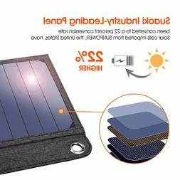 Suaoki 14W Foldable Solar Panel Charger Power Bank Battery S