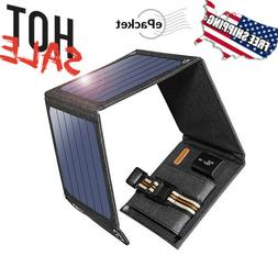 14W Solar Panel 5V USB Output Portable Foldable Power Bank C