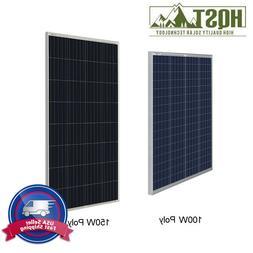 HQST 100W 150W Watt 12V Volt Poly Solar Panel Off Grid PV Po