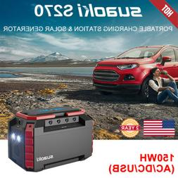150Wh Portable Solar Generator Charger Power Station Power S