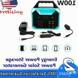 150wh portable solar generator power supply charger