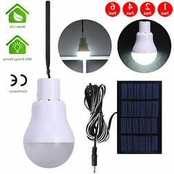 Portable Bulb Outdoor Indoor Solar Powered Panel LED Lightin