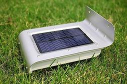 Frostfire 16 Bright LED Wireless Solar Powered Motion Sensor