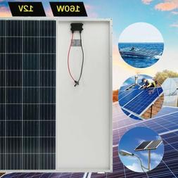 160 Watt 12V Solar Panel Poly Module RV Marine Boat Off Grid