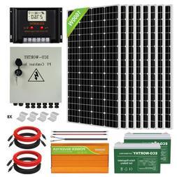 1600W 1200W 800W 600W 400W 200W Watt Solar Panel Kit For Hom