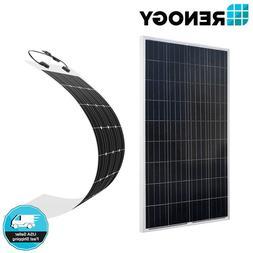 Renogy 160W 150W Solar Panel 12V PV Power Flexible Mono RV M
