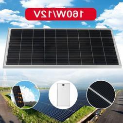 160W Solar Panel Poly 160 Watt 12V Off Grid Battery Charger