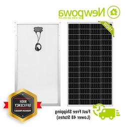 Newpowa 160W Watt Monocrystalline Solar Panel 3FT Cable with
