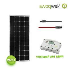Newpowa 175W Watt 12V Solar Panel+PWM 10A 12V/24V Charge Con