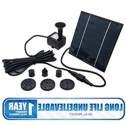 MASO 7V 1.4W 180L/H Solar Panel Powered Water Feature Pump G