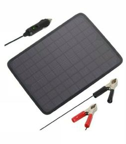 18V 12V 10W Portable Solar Panel Battery Charger Maintainer
