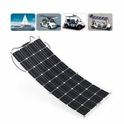 18V 12V 120W Flexible Solar Panel for Motorhome Boats Roof